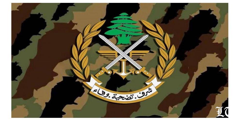 الجيش: الوضع في الجانب اللبناني عند الحدود الجنوبية هادئ ومستقر