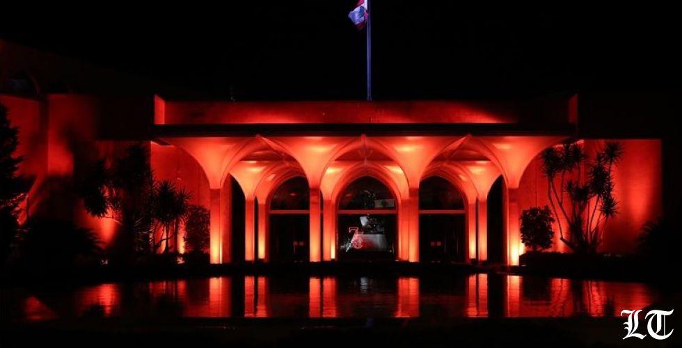 القصر الجمهوري مضاء لمكافحة العنف ضدّ النساء