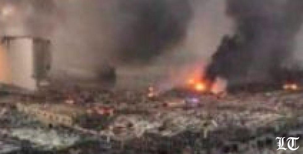صورة لمرفأ بيروت قبل الانفجار وبعده