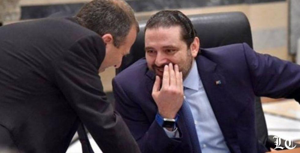 الحريري وباسيل أمام طبق أكل أكتاف السلطة