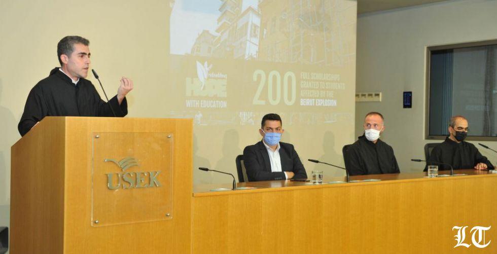 جامعة الروح القدس تقدّم مئتي منحة تعليميّة للطلاّب المتضرّرين من انفجار بيروت