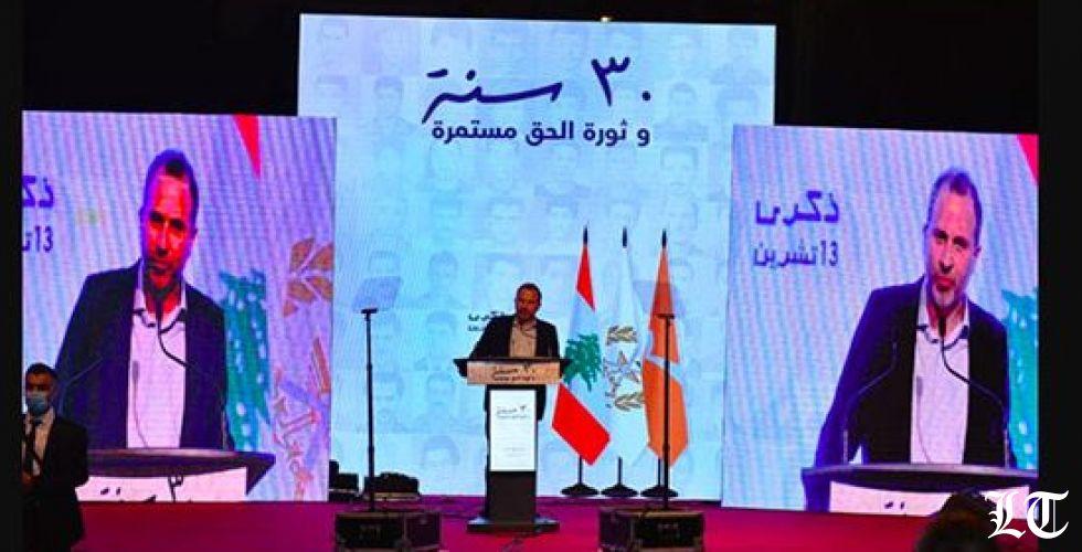 باسيل في تجهيل الفاعل في عملية ١٣ تشرين يوضح مواقفه من الحكومة والنظام العام