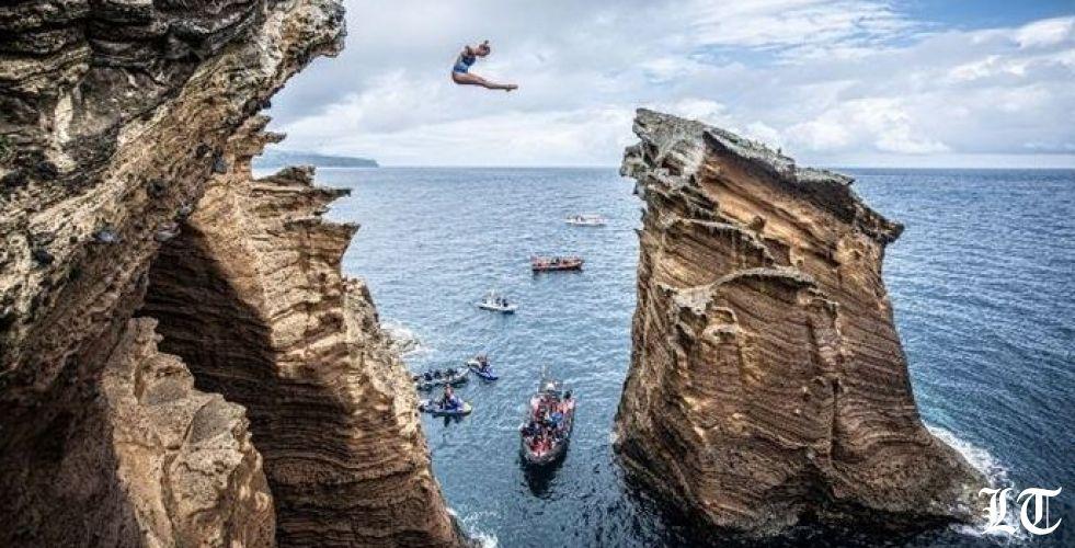 مسابقة عالمية للقفز من صخرة الروشة رمز بيروت والانتحار
