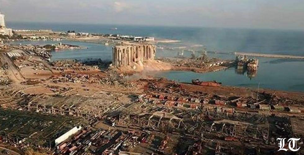 صور جوية للمرفأ بعد كارثة الانفجار