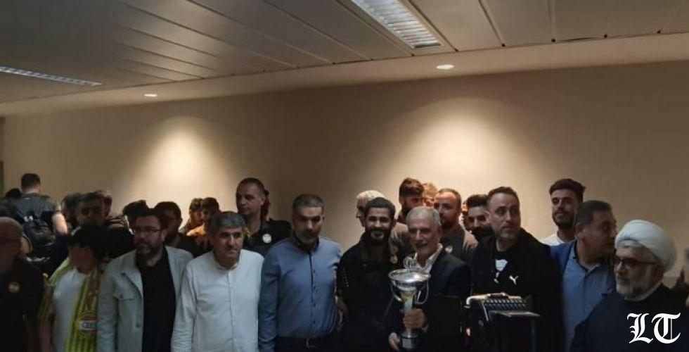 فريق العهد عاد إلى بيروت ومعه كأس الاتحاد الآسيوي