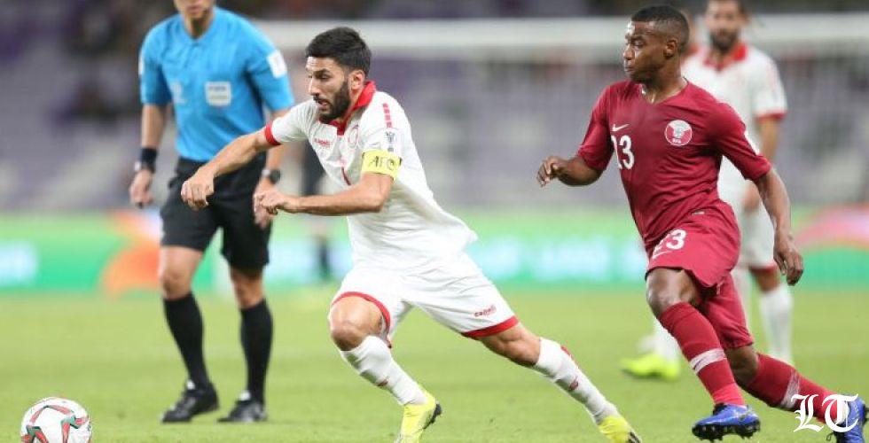 لماذا ألغى الحكم هدف لبنان في مرمى قطر؟