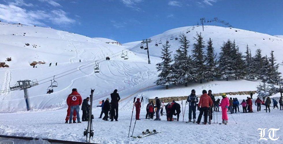 هدية السماء: موسم التزلج عاد الى لبنان