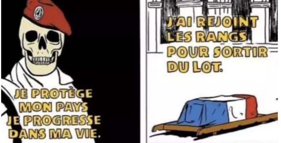 """""""شارلي إيبدو"""" تثير الجدل ورسوماتها تغضب الجيش الفرنسي"""