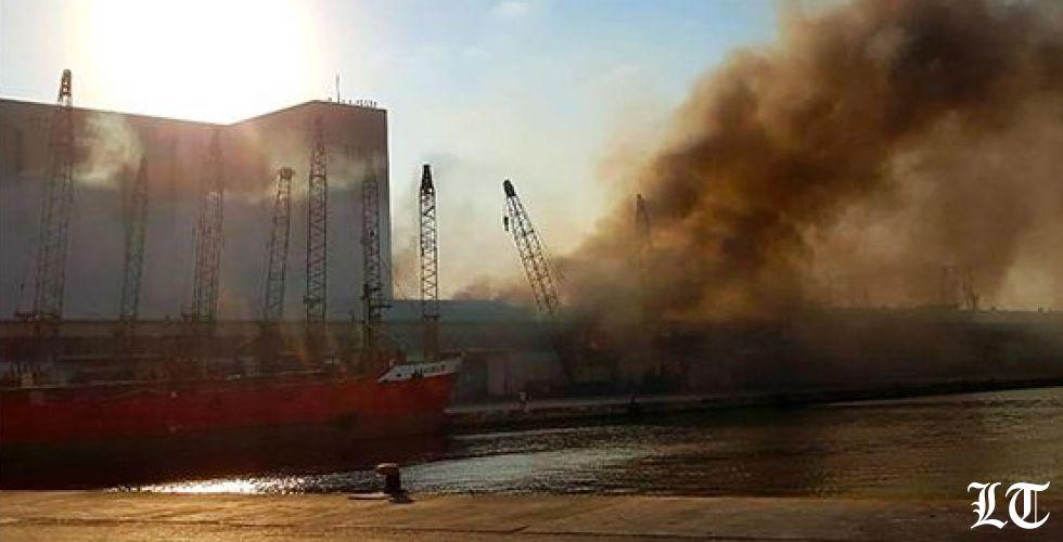 انفجار في مستودعات مفرقعات في مرفأ بيروت
