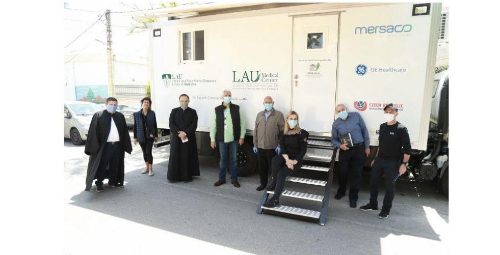 الحملة الوطنيّة لمحاربة فيروس COVID-19 والمتمثّلة بعيادة LAU المتنقّلة تغطّي الزوايا الأربع من لبنان وتستمرّ