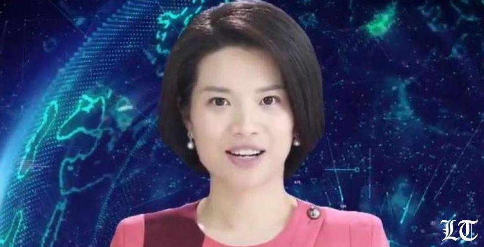 مذيعة آليّة  لتقديم نشرات الأخبار