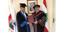 شربل مارون من صوت لبنان الى الدكتورة بدرجة عالية