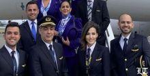 إمراة تقود طائرة الرئيس عون