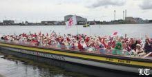 بابا نويل في عطلة صيفية في كوبنهاجن