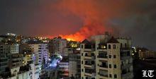 النيران تقترب من مدينة بيروت وضواحيها جنوبا