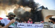 إطلاقُ نار وقطعُ انترنت لتطويق الاحتجاجات العراقية المتواصلة